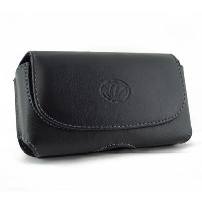 Brand New Black Color Horizontal Leather Cover Belt Clip Side Case Pouch For Palm Treo 700p 700w 700wx 755p