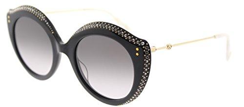 Gucci GG 0214S 001 Black Plastic Fashion Sunglasses Grey Gradient Lens