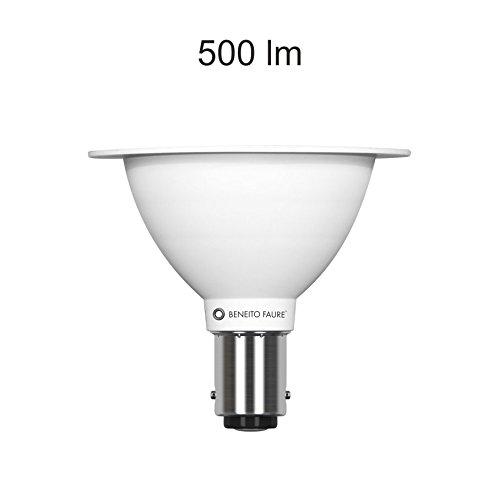 Lámpara LED Max AR70 Beneito Faure BA15D/B15d 7 W 12 V 24º 2700 K luz cálida: Amazon.es: Iluminación