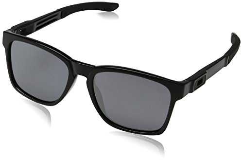 Oakley Men's Catalyst Square Sunglasses Polished Black / Black Iridium