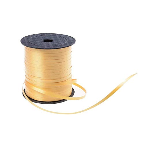 - Yeelan 500 Yard Balloon Curling Ribbon Crimped Ribbon Roll Balloons String for Party Wedding Festival Decoration Gift Wrapping etc (Gold)