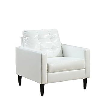 Amazon.com: Bowery Hill silla de acento en color blanco ...