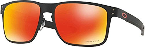 Oakley Holbrook Metal Sunglasses Matte Black / Prizm Ruby & Cleaning Kit - Usa Holbrook