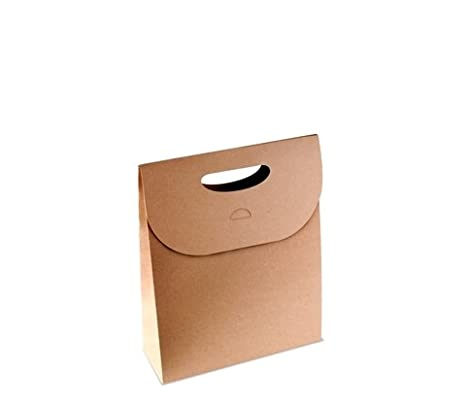 Selfpackaging Bolsa Regalo con asa en cartulina Kraft. Pack de 50 Unidades - S