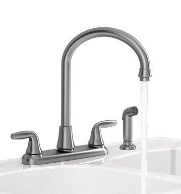 American Standard Brands Jocelyn Kitchen Faucet, 7-3/4 in X 7-1/2 in Spout, Stainless Steel, 7-3/4