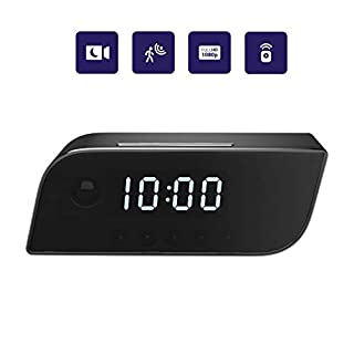 Pavlysh WiFi Camera Alarm Clock Night Vision - Motion Detection Nanny Camera - Loop Recording Security Camera for Home Surveillance - Video Recorder Real-Time - HD 1080 P