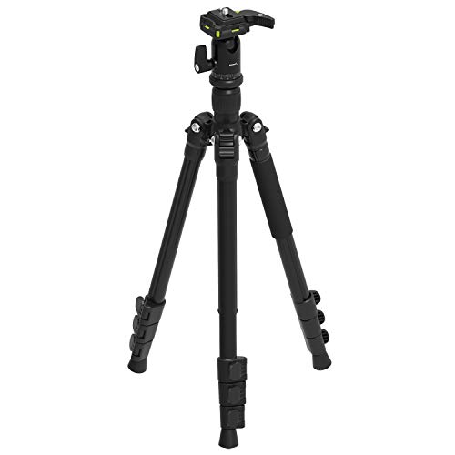 Sabrent 56 Inch Aluminum Tripod with 360 Degree Full Motion Camera Mount