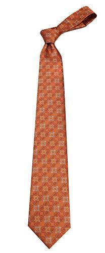 Boys Youth Orange Pattern Designer Necktie Ties by Basilio