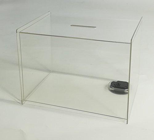 FixtureDisplays Box, Clear Ghost Acrylic Donation Fundraising 7x5.5