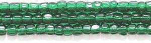 Beads Seed Cut Glass (Preciosa Ornela Czech 3-Cut Style Seed Glass Bead, Size 9/0, Transparent Deep Emerald)