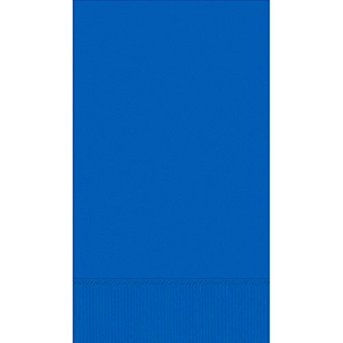 Amscan Durable 3-Ply Plain Guest Towels Party Tableware Supplies , Bright Royal Blue, 192 Pieces