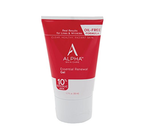 Alpha Skin Care - Essential Renewal Gel 10% Glycolic AHA for Healthy, Younger-Looking Skin - 1.7 oz