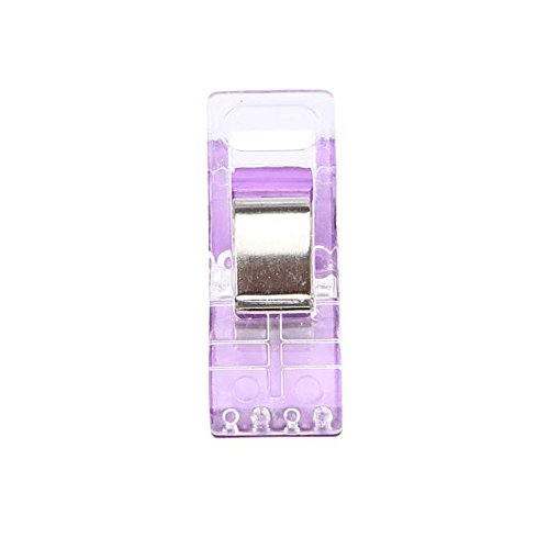 MVPSALE 20 Clear Plastic Clip Clip Edge Fixing Clip Axe Clip Purple,20 PCS Sewing Craft Quilt Binding Plastic Clips Clamps Pack PP