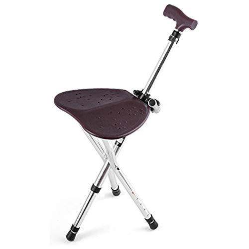 YGUOZ Gehstock Sitz Krücken Klappbarer, Sitzstock Portable, Gehstock 5 Höhenverstellbarer, für Behinderten