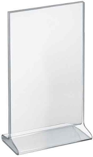 - Azar Displays 142714 7-Inch Width by 11-Inch Height Top-Load Acrylic Sign Holder, 10-Pack
