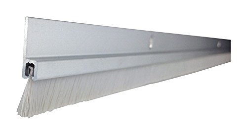 M-D Building Products 19107 Door Sweep with Nylon, 36'' x 1.75'' x 2.125'', Aluminum
