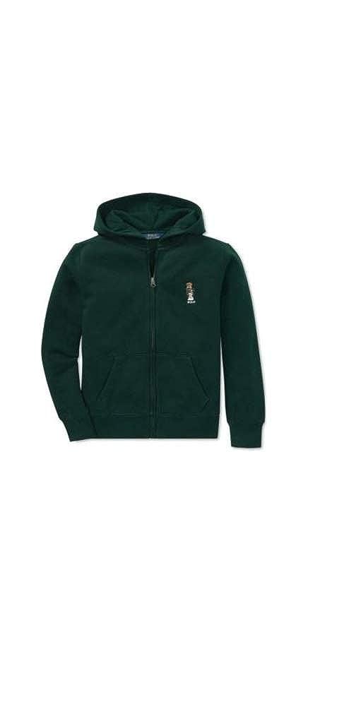 Polo Ralph Lauren Boys Fleece Hoodie Sweatshirt Bear Green