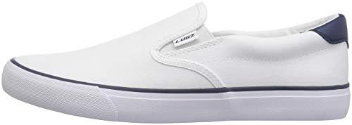 Lugz Men's Clipper Classic Slip-on Fashion Sneaker, White/Peacoat Blue, 7