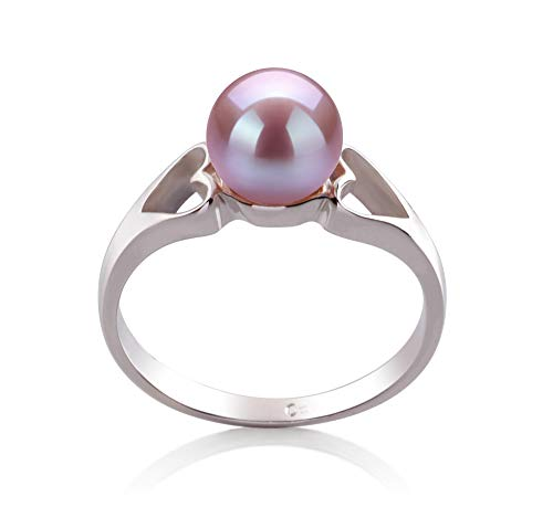 Jessica Lavender 6-7mm AA Quality Freshwater 925 Sterling Silver Cultured Pearl Ring For Women - Size-8