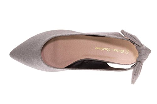 Andres für Damen Ballerinas Gris Machado Grey Ante rq6rFE