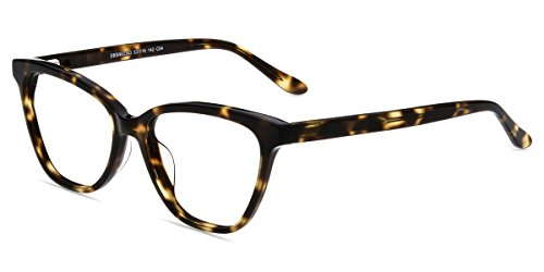 Firmoo Cat Eye Blue Light Blocking Glasses, Women Computer Eyeglasses, Anti Eyestrain Vintage Cateye Tortoise Eyewear Frame