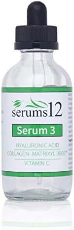 Hyaluronic Acid, Vitamin C and Matrixyl 3000 Collagen Facial Serum 2 oz