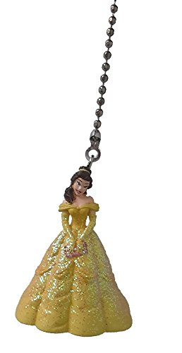 Disney Classic Disney PRINCESS movie assorted Character Ceiling FAN PULL light chain (Belle - yellow gown)