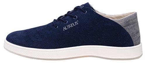 Aureus Mens Maximus Nubuck Leer Lage Top Schoen Marine Blauw