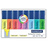 Staedtler Textsurfer Classic Highlighter, Chisel Tip, Blue/Green/Orange/Pink/Purple/Red/Turquoise/Yellow, 8 per Set (364WP8)