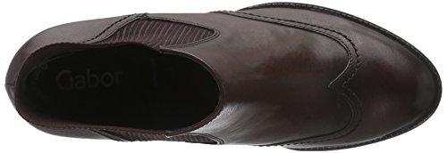 Gabor Shoes Basic, Botines para Mujer Rojo (Merlot Effekt)
