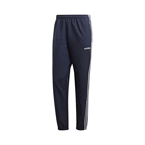 adidas Essentials Men's 3-Stripes Wind Pants, Legend Ink/White, XX-Large