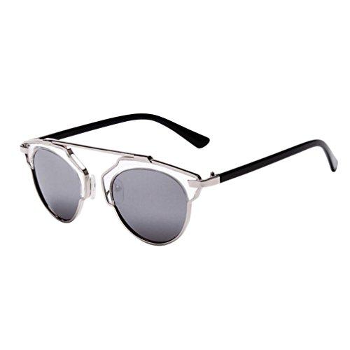 lente moda sol gafas Color unisex Hombres espejo de H aviador Winwintom Retro Vintage gafas viajes de Mujeres qRHOvH