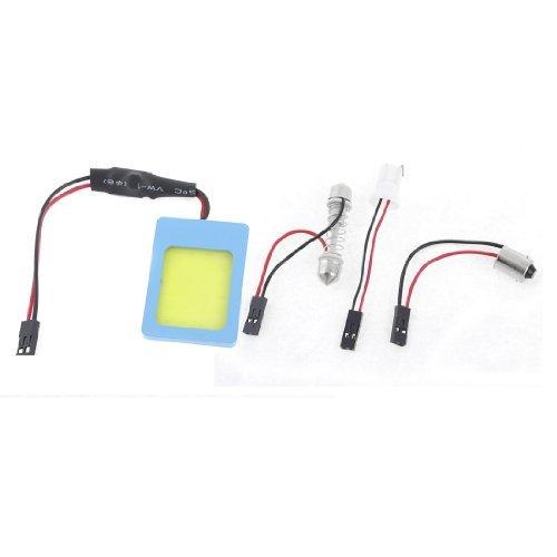 38 Carte 1 Light - eDealMax véhicules 24 COB Blanc Toit Carte Lumière avec Festoon BA9S T10 Adaptateur