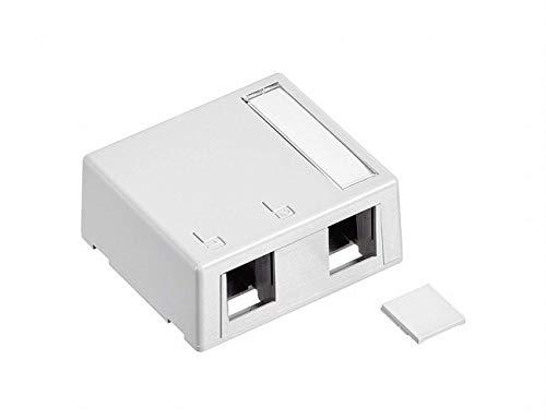 (Leviton 41089-2WP 10 Pack 2-Port Surface-Mount QuickPort Box Plenum Rated, White )