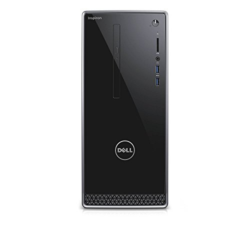 Dell Inspiron i3668 Desktop – 7th Generation Intel Core i7-7700 Processor up to 4.2 GHz, 16GB DDR4 Memory, 256GB SSD + 1TB SATA Hard Drive, Intel HD Graphics, DVD Burner, Windows 10