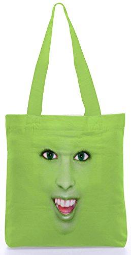 Snoogg Gesicht Camouflage Lustige 13,5 x 15 Zoll-Shopping-Dienstprogramm-Einkaufstasche aus Polyester-Segeltuch gemacht