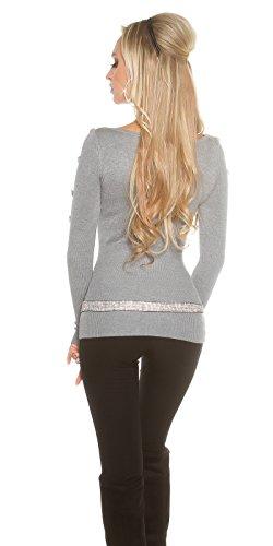 KouCla - Jerséi - Básico - para mujer gris