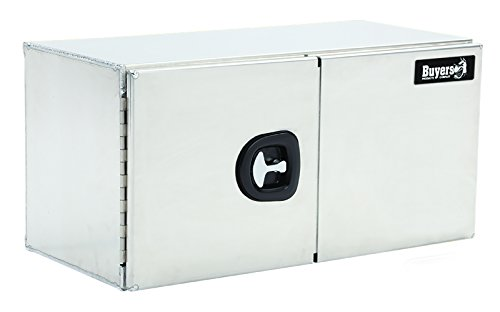 Buyers Products Smooth Aluminum Underbody Truck Box w/Barn Door (24x24x60 Inch)