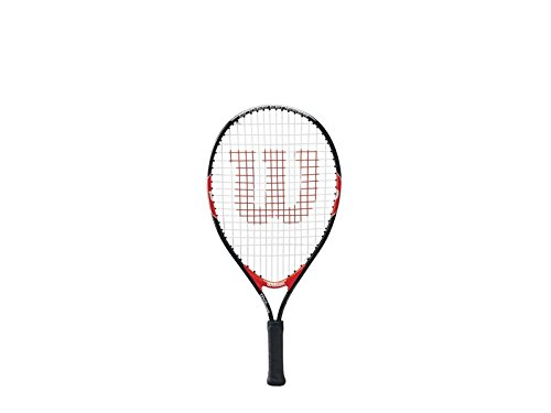Wilson Federer Junior Tennis Racquet, Black/Red, 21-Inch (Racket Red Tennis)