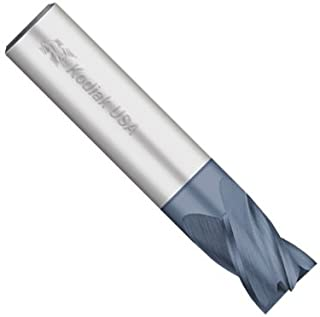"""product image for Kodiak Cutting Tools KODIAK131591 USA Made Solid Carbide End Mill, Coated, 4 Flute, 7/16"""" Shank, 5/8"""" Length of Cut, 2-1/2"""" Overall Length, 7/16"""" Diameter"""