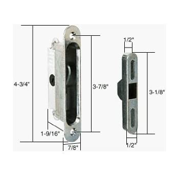 Crl Mortise Lock For Sliding Glass Patio Doors Round End