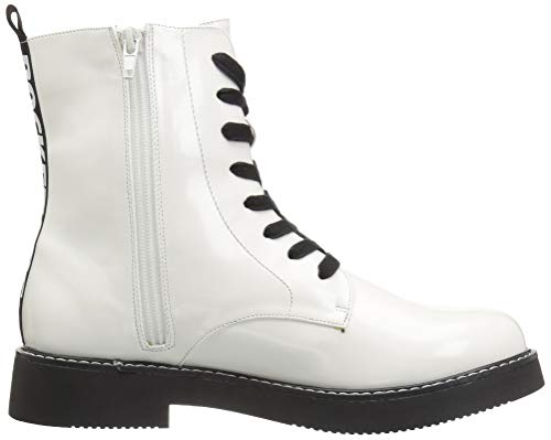 White in Jelina Boot Boxed Pu Dog Combat Rocket Women's x8qwgZZC