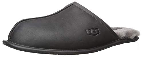 UGG Men's Scuff Slipper, Black, 12 M US