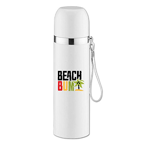 Caryonom Beach Bum Letter Insulated Water Bottle Travel Mug Vacuum Cup For Office Home Outdoor Adult Kids