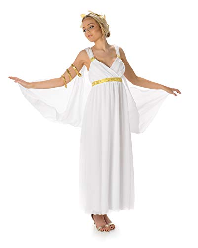 Greek Goddess Costume Set - Halloween Aphrodite Toga and Accessories, X-Small -
