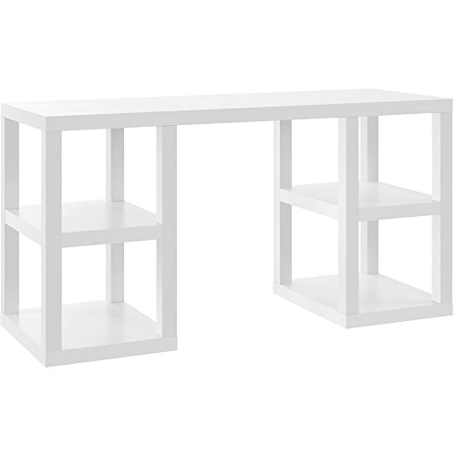 Ameriwood Home 9318596COM Parsons Deluxe Desk, White