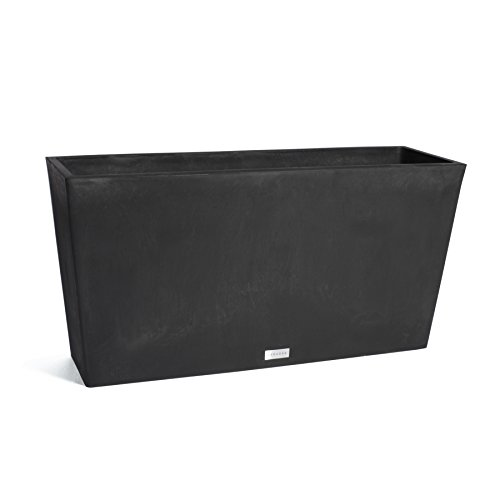Veradek Midori Long Trough Planter, 20-Inch Height by 12.5-Inch Width by 39-Inch Length, Black (MLO39B) (Lightweight Planters Trough)