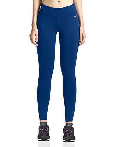 Baleaf Women's Ankle Legging Yoga Pants Inner Pocket Non See-Through Estate Blue Size M
