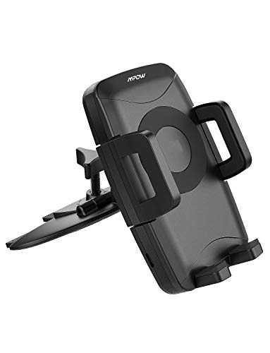 Mpow 108 Upgraded Wireless CD Slot Phone Holder Charger, (10W, 7.5W and 5W) Optional, Compatible iPhone Xs/XS Max/ 8/ iPhone 8 Plus/iPhone X, Galaxy S9/S8/ S8 plus/S7/S7 Edge/S6 Edge Plus/Note 5