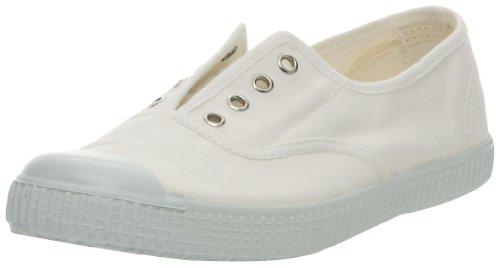 Victoria Inglesa Elastico Tenido Punt - Zapatillas de deporte de tela para mujer, Blanc (20 Blanco), 39